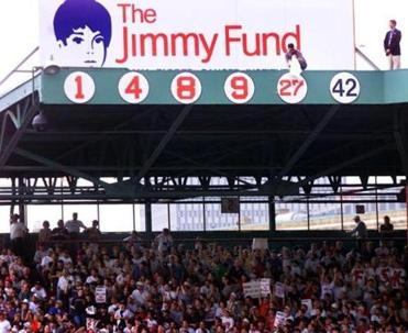 Fisk's number 27 was unveiled as the Red Sox' fifth retired number yesterday.
